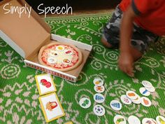 Simply Speech: Pizza Palace Listening Game! So many goals to address with one fun game!