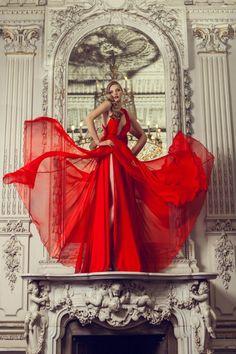 "fashionpr0n: ""Red Gown by Olga Skazkina """