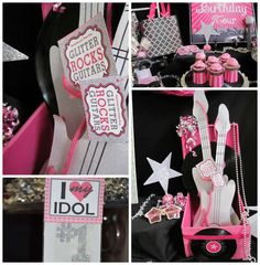 Rock Star Makeover & Karaoke Birthday Party Ideas | Photo 3 of 22 | Catch My Party