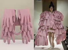 French artist and photographer Marie Valonges, aka Mise En, continued her series of runway looks reimagined as sculptures for AnOther Magazine. Fashion Art, Fashion Beauty, Fashion Design, Fashion Illustration Collage, Comme Des Garcons, Everyday Objects, Everyday Items, Couture Collection, Doll Clothes