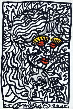 Robert COMBAS Bts Design Graphique, Pop Art, Bad Painting, Neo Expressionism, Fauvism, Conceptual Art, Art Plastique, Sketching, Illustration