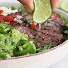 This Carne Asada steak salad is made with everything I love – juicy steak, pico de gallo, Monterey Jack cheese and guacamole.