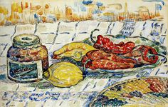 Paul Signac Still Life   Paul Signac - Still Life with Peppers