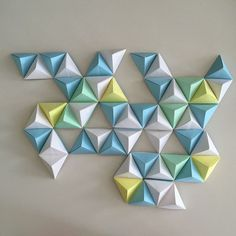 Around two years ago, while exploring design blogs and Pinterest, I came across a picture  of some origami wall art that stuck with me. It ...