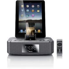Amazon.com: Philips DC390/37 Dual-Docking 30-Pin iPod/iPhone/iPad Alarm Clock Speaker Dock: MP3 Players & Accessories