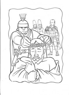 Jesus Arrested Coloring Page
