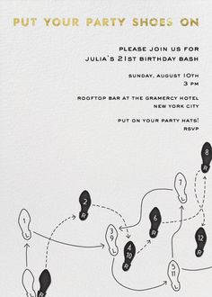 """Party Shoes"" Invitation, by kate spade new york, Paperless Post"