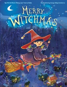 Ginger the Halloween witch has a big Christmas wish–a visit from Santa Claus. But Santa doesn't believe in witches–until Ginger's letter to him magically appears on his desk! Christmas Wishes, Christmas Holidays, Children's Picture Books, Good Cheer, Book Format, Santa, Merry, Lettering, Witches