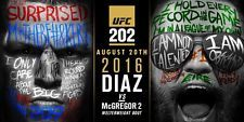 "Conor Mcgregor VS Nate Diaz Second Match Poster UFC 202 MMA Fight Card Art Print Size 13x20"" 24x36"""