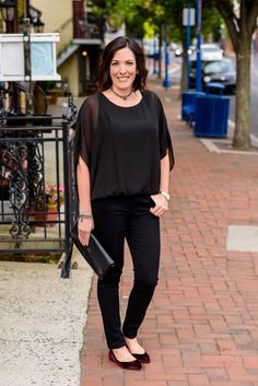 I absolutely love a black on black outfit. It's so chic and sophisticatedand a little mysterious -- perfect for a GNO or a date night with your honey. In partnership with /bloomingdales/.