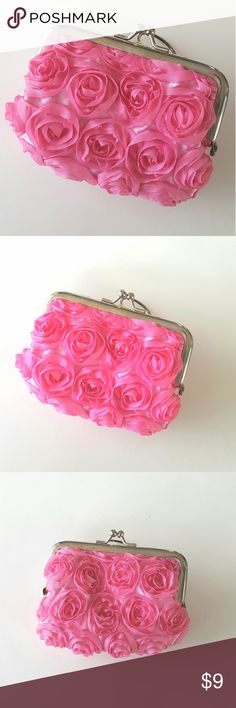 I just added this listing on Poshmark: {Coin Purse} Pink Roses Romantic Spring. #shopmycloset #poshmark #fashion #shopping #style #forsale #Handbags