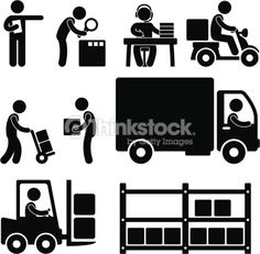 Vector Art : Logistic Warehouse Delivery Pictogram
