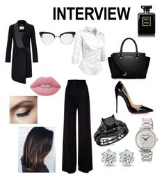 """Interview: go for it!"" by agu-bernardez on Polyvore featuring moda, MaxMara, MICHAEL Michael Kors, Christian Louboutin, Chanel, Lime Crime, Thom Browne, jobinterview y 60secondstyle"
