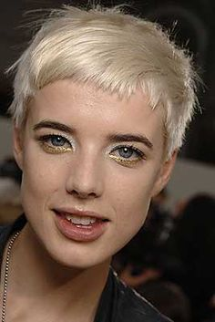 Agyness Deyn pron.: /ˈæɡnɨs diːn/) (born Laura Michelle Hollins (16 February 1983) is an English fashion model, actress and singer.
