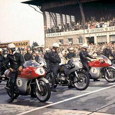 tarsilveira:  Moto GP Germany 1958 (John Surtees #6).#motorcycle#motorsports#tw