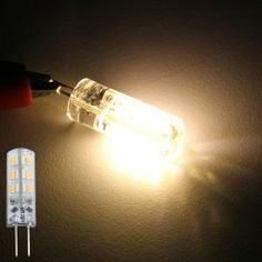 4 X G4 Warm White SMD 3014 24 LED Marine Boat Spot Light Bulb 3600K DC12V