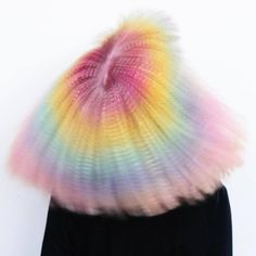 "lisamcconniffe: ""Full force Prism // Crimper vibe By 🌈🌈🌈 Hair Horn, Unicorn Hair Color, Hair Crimper, Crimped Hair, Coloured Hair, Punk, Crazy Colour, Rainbow Hair, Rainbow Pastel"