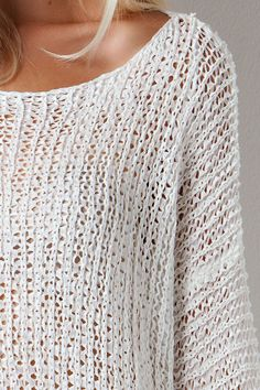 Lace Hem Knitted Sweater from Gypsy Outfitters