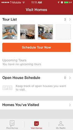 You can book tours right from the Redfin iPhone app!