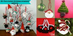25+free crochet christmas ornament patterns - featuring my free crocheted gingerbread house tags :-)