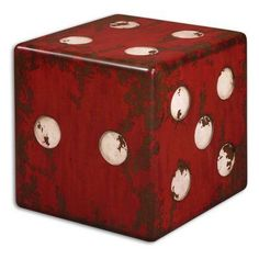 Uttermost Dice Cube End Table - 24168