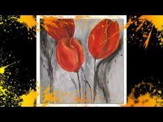 ▶ Acrylmalerei Tulpen Demo Acrylic Painting Tulips Peinture - YouTube