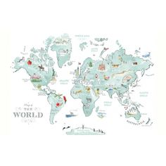 Alice Tait   Illustrated World Map