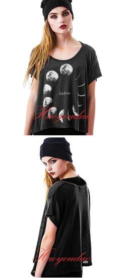 Feminino Verão T shirt Mulheres Tops 2016 Lua 3D Impressão T shirt Femme Graphic Tees Harajuku Camisa Mulheres Punk Rock Camisetas Mujer em Camisetas de Das mulheres Roupas & Acessórios no AliExpress.com | Alibaba Group