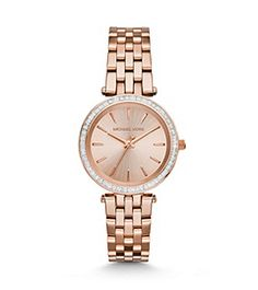 Mini Darci Rose Gold-Tone Watch by Michael Kors