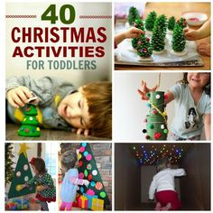 What can your toddler do? ALL of these activities and crafts! A collection perfect for Christmas. Christmas Activities For Toddlers, Advent Activities, Preschool Christmas, Winter Crafts For Kids, Toddler Christmas, Toddler Activities, Christmas Fun, Holiday, Diy Christmas Ornaments