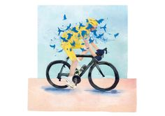 Cycling illustration - Pen ink watercolour - Grace Russell