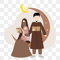 Reading Cartoon, Cartoon Books, Family Illustration, Cute Illustration, Ramadan Png, Muslim Images, Moon Astrology, Minimalist Photos, Islamic Cartoon
