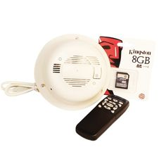 """Features: Fully Functional Smoke Detector, High Quality Color 1/3"""" SONY CCD Camera, SD Card Memory Support 8 GB SD card included (supports up to 32 GB SD card), Remote Control for one touch operation, Motion Activation, No Additional Software Required, Video Resolution: 520 TV Lines, Minimal Illumination: 0.1 LUX (Low Light), Power Supply: DC 12 V, Requires AC Connection - Adapter Included  $472.00"""