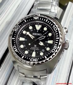 Had the opportunity the check out the Seiko Prospex Kinetic GMT divers at K2 recently. The three models I handled are SUN019P, SUN021P and SUN023P. They are big, thick and heavy, and will dwarf alm…