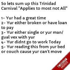 #Trinidad #Carnival #Humor truth.com
