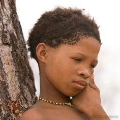 Africa: San girl, Namibia