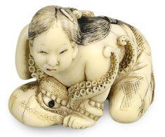 Ama - Cerca con Google Geisha, Art Chinois, Art Japonais, Japanese Characters, Small Sculptures, Art Carved, Kintsugi, Japan Art, Japanese Culture