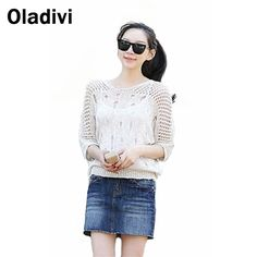 Find More Blouses & Shirts Information about XXXL Plus Size Women Clothes 2015 Summer New Hole Pullover Thin Knitted Blouse See Through Transparent Shirt Sun Protection Wear,High Quality clothes singapore,China clothes print Suppliers, Cheap blouse leopard from Oladivi Group - Minabell Fashion Store on Aliexpress.com