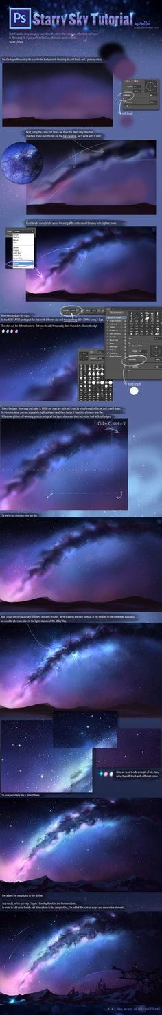 +Starry Sky Tutorial+ by Enijoi.deviantart.com on @deviantART