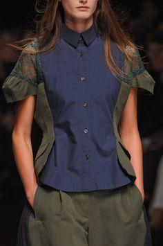 Sacai at Paris Fashion Week Spring 2013 - Details Runway Photos