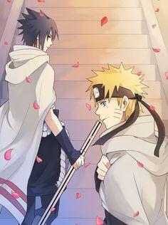 <3 Sasuke & Naruto (Team Kakashi / Team 7) - by warable, DeviantArt