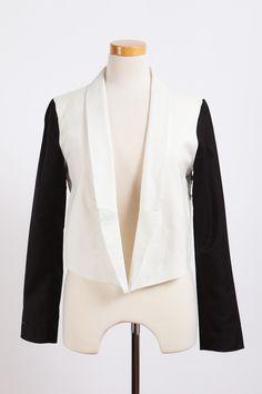 BB Dakota Alton Black and White Contrast Blazer