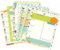 More Free Home Organization Printables!