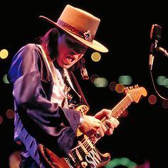 "Stevie Ray Vaughan absorbed the styles of just about every great blues guitarist – plus Jimi Hendrix and a lot of jazz and rockabilly – and his monster tone, casual virtuosity and impeccable sense of swing could make a blues shuffle like ""Pride and Joy"" hit as hard as metal. Vaughan was recognized as a peer by the likes of B.B. King and Eric Clapton, and despite his 1990 death in a helicopter crash, he's still inspiring multiple generations of guitarists. rollingstone.com"