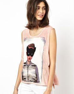 Paul & Joe Sister Vest with Girl Print
