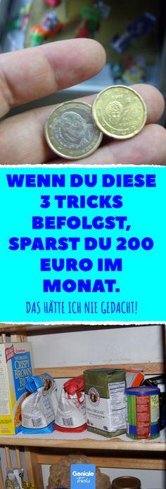 Wenn du diese 3 Tricks befolgst, sparst du 200 Euro im Monat. Das hätte ich nie gedacht! Spare jeden Monat Geld mit der Kaufdiät. #einkaufen #geld #sparen #nachhaltigkeit #tricks #alltag #umweltfreundlich