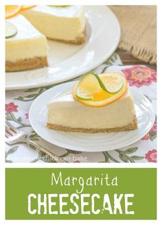 Margarita Cheesecake | A delightful cheesecake with all the flavors of a margarita! @That Skinny Chick Can Bake!!!