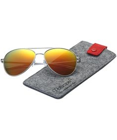 Classic Polarized Ultra Light Flex Hinge Aluminum Aviator Sunglasses - Aluminum Silver - Polarized Lava Red - CF188X50X24 #Classic#Polarized#Ultra#Light#Flex#Hinge#Aluminum#Aviator#Sunglasses#Aluminum#Silver#Polarized#Lava#Red#CF188X50X24 Wayfarer Sunglasses, Retro Sunglasses, Sunglasses Case, Vintage Men, Retro Vintage, Outdoor Woman, Lava, Aviation, Classic