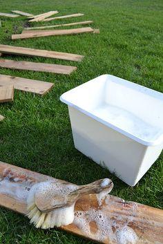 Pallet Farm Table Desk ~ Part 1, gathering the goods - Funky Junk InteriorsFunky Junk Interiors