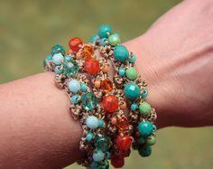 Jewelry Tutorial, Crochet Bracelet Pattern, Bead Tutori (42)